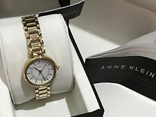 NEW ARRIVAL! ANNE KLEIN LADIES CHAMPAGNE GOLD-TONE BRACELET WATCH AK/2282WTGB