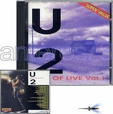 "U2 ""BEST OF LIVE VOL 1"" RARE CD MADE IN ITALY"