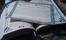 Custom Spell Book of Shadows Handmade 540 pgs 9x12 Wicca Witchcraft Pagan