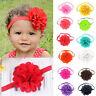 Kids Girl Baby Fashion Toddler Hair Bow Headband Lace Flower Headwear