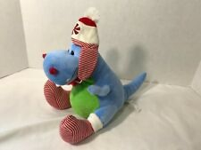 Brontosaurus Dinosaur Animal Aventures Plush Toy Green With Red And White Socks