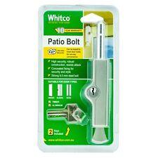 Whitco Silver CYL4 Patio Bolt