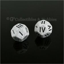 NEW 2 Roman Numeral D4 12 Sided RPG Dice Arctic Camo Speckled Game Die Chessex