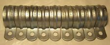 """Lot of (9) 1 1/2"""" One HOLE conduit STRAP Electrical strapping for EMT 1.5"""""""