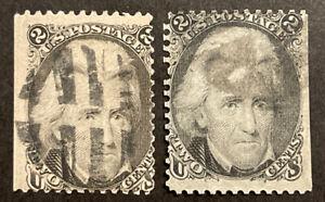 TDStamps: US Stamps Scott#73 (2) 2c Jackson Used