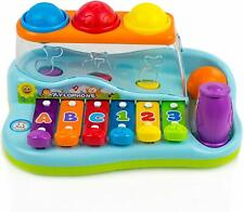 Toysery Rainbow Xylophone Piano Toy Pounding Bench for Kids  Best Toddler Gift