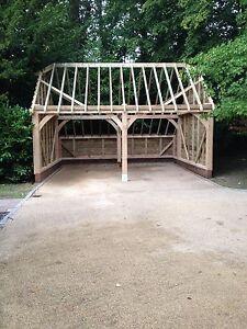 2 bay oak garage fitting cost