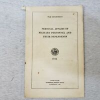1942 Personal Affairs of Military Personnel & Their Dependents US War Department