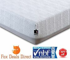 Breasley UNO Memory 2000 Pocket Sprung Mattress 3FT Single 10Yr Guarantee UKMade