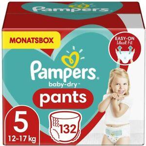 Pampers Baby-Dry Pants taglia 5, 12-17 kg, scatola mensile, 132 pz