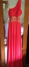 Betsey & Adam Orange/Pink Evening Prom Dress Gown Size 6