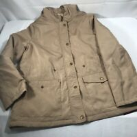 Forever 21 Hooded Utility Jacket, Tan Color Size Small Regular Coat Brown