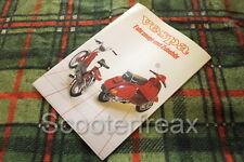 VESPA Merchandise Catálogo Cuaderno FOLLETO PX Lusso PK Ciclomotor Bicicleta