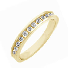 Set Band in 10K Gold 0.25 Carat Natural Round Diamond Channel