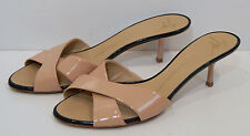 GIUSEPPE ZANOTTI DESIGN Nude Beige Patent Leather Slip On Sandals UK7 EU40