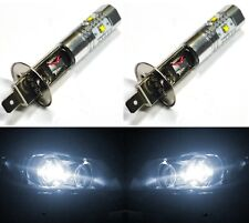 LED 30W H1 White 5000K Two Bulbs Fog Light Replacement Plug Play Lamp Fit