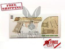NEW UGEARS Mechanical 3D Puzzle Wooden PISTOL GUN HANDGUN Wolf - 01 Unique Model
