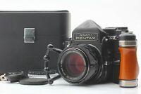 [MINT w/Case,Grip] Pentax 6x7 67 TTL Finder SMC Takumar 105mm f/2.4 Lens Japan