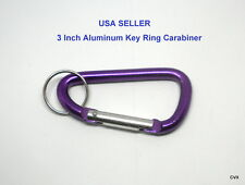 """New 3"""" Aluminum Carabiner D-Ring Key Chain Clip Hook Free USA Shipping"""