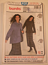 Burda-8733 Skirt Jacket Sewing Pattern Size 12 to Plus Size 22 Uncut