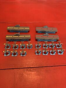 Vintage 1977 CARRIER STRIKE Game Replacement Parts Lot Carriers & Planes 19 pc