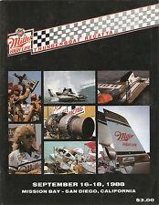 1988 Miller High Life Thunderboat Regatta Race Program