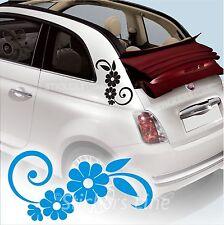 KIT ADESIVI FIORI 3 SMART FIAT 500 fiori auto moto fiore car Flowers stickers