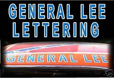 GENERAL LEE lettering decal sticker DUKES OF HAZZARD