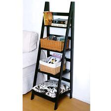 SCOTT - Ladder 4 Tier Storage / Display Shelves - Black ST211136