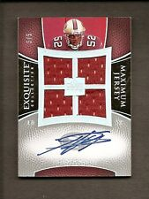2007 EXQUISITE COLLECTION MAXIMUM JERSEY SIGNATURE PATRICK WILLIS AUTO RC #3/5