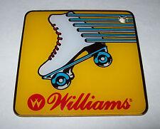 Williams Rollergames Pinball Plastic Coaster Keychain Roller Derby Sports 1990