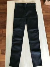 BURBERRY WOMENS LEATHER LEGGING PANT US SIZE 8