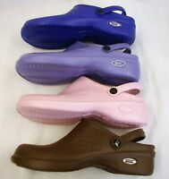 1 Natural Uniforms Women Ultralite Nurse Clogs W Heel Strap Eva Foam 9012 Sz 10