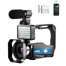 Camcorder Video Camera   VLOG Microphone Remote WiFi YouTube Camera IR Night Vis