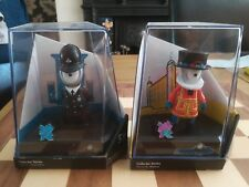 Official London 2012 Wenlock Police Officer and Mandeville Beefeater Figurines