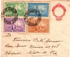 1934 Brazil Rio de Janeiro with Four Stamps on Postal Stationery Cover
