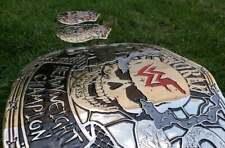 WWF WORLD STEVE AUSTIN SMOKING SKULL WRESTLING CHAMPION BELT PLATES