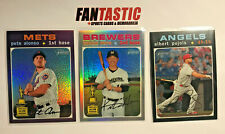 2020 Topps Heritage Chrome Parallel YOU PICK Black /999 , Refractor /571, Purple