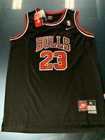Michael Jordan #23 Black Hardwood Classics Chicago Bulls Kids/Youth Jersey