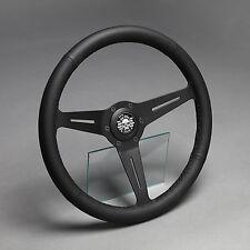 Lederlenkrad Sportlenkrad Leder schwarz 350mm Volvo Amazon 121 122 444 544 460