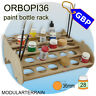 1x ORBOPI36 MODULAR STACKABLE PAINT BOTTLE RACK 28 TAMIYA VALLEJO ANDREA PAINTS