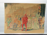W. Starke - Phantastische Darstellung einer Faschingsgesellschaft datiert 1940