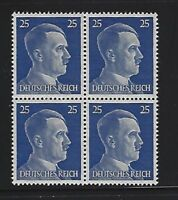 MNH  Adolph Hitler stamp block / 1941 PF25 / Original Third Reich era Germany