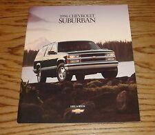 Original 1996 Chevrolet Truck Suburban Sales Brochure 96 Chevy
