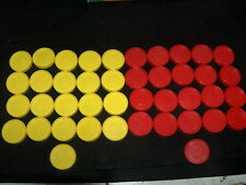 CONNECT FOUR (4) Game Replacement Pieces ~ LOT OF 42 CHECKERS ~  3/25