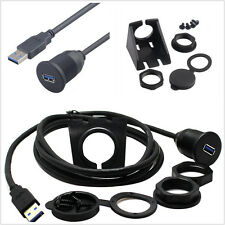 3FT USB Male to Female AUX Flush Panel Mount Extension Cable for Car Truck