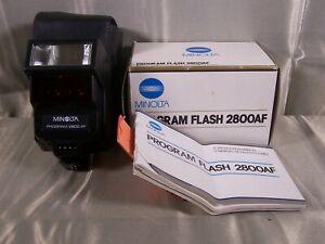 Minolta Program Flash 2800 AF With Case Manual Boxed