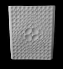 70s Fürstenberg bisquitporzellan op art jarrón glazed relief porcelain annees 70