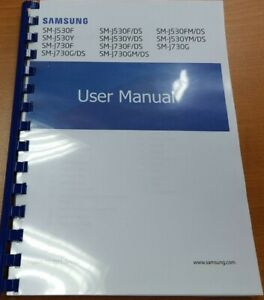 SAMSUNG GALAXY J7 J730F (2017) PRINTED INSTRUCTION MANUAL GUIDE 141 PAGES A4