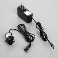 1pc 6V-12V DC Pump Brushless Amphibious Fountain Water Pump & 12V 1A Transformer